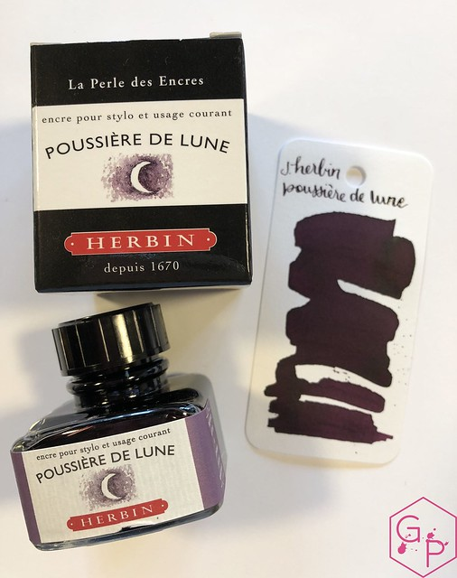 Ink Shot Review J. Herbin Poussière de Lune @KnightsWritingC 10