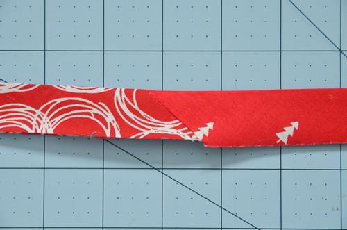Fold bias tape in half, wrong-sides together, and iron.