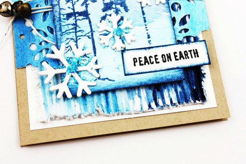 Meihsia Liu Simply Paper Crafts Mixed Media Card Winter Blues Simon Says Stamp Tim Holtz 6
