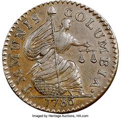 1786 Immunis Columbia copper Maric 3-C obverse