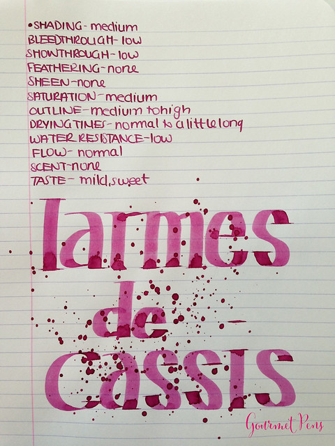 Ink Shot Review J. Herbin Larmes de Cassis @KnightsWritingC 8
