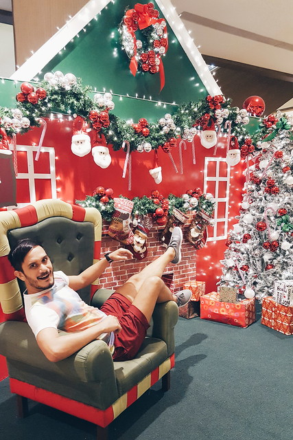 halfwhiteboy - holiday reindeer fun in maroon shorts 02