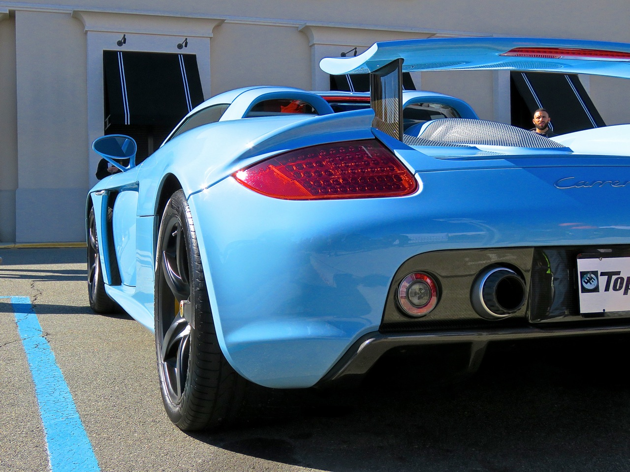 Baby Blue Porsche Carrera GT 4