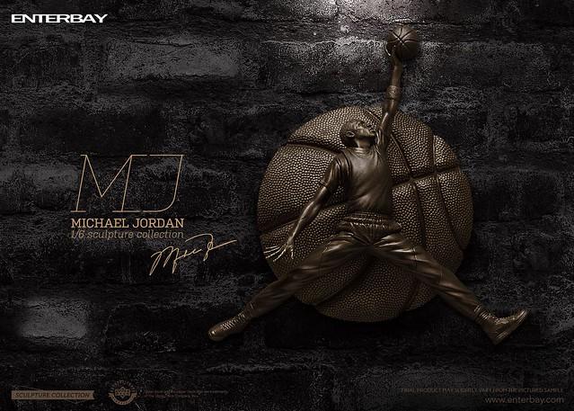 飛人再現!!ENTERBAY 籃球之神【麥可·喬丹】Michael Jordan 1/6 比例雕像作品 青銅限定版