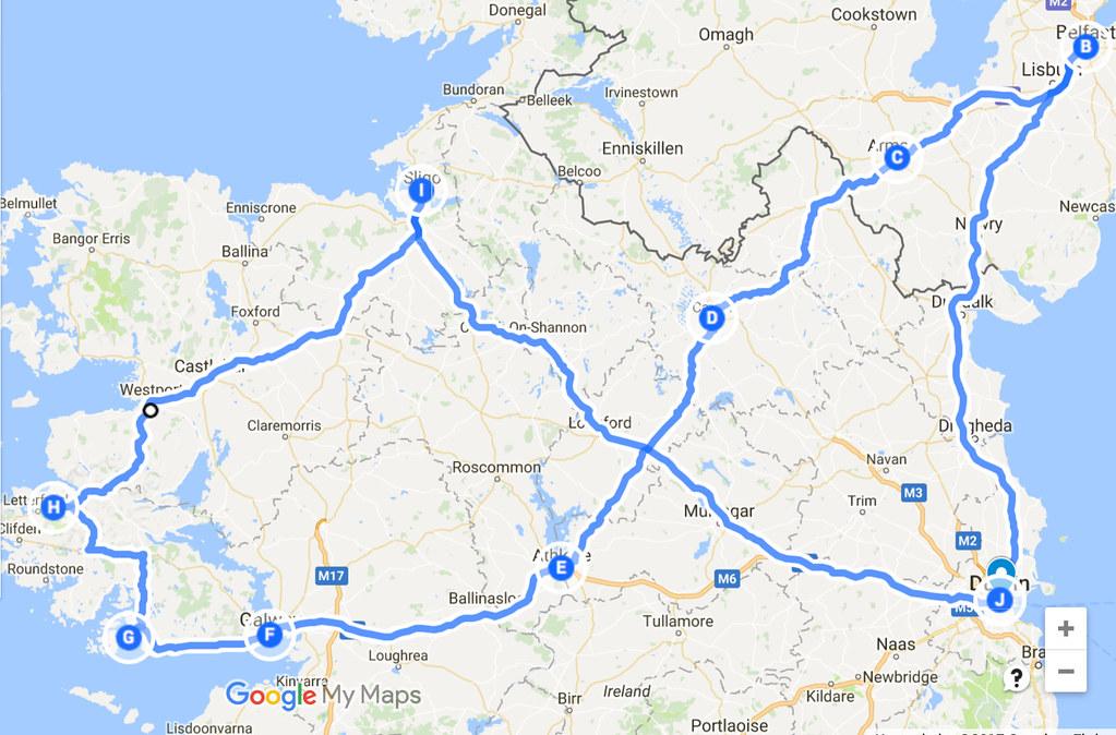 Irlannin road trip