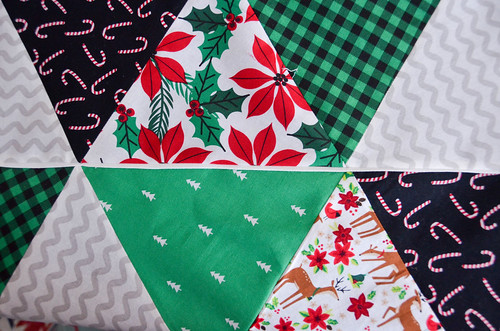 "Sew quilt blocks together with 1/4"" inseam, iron open."