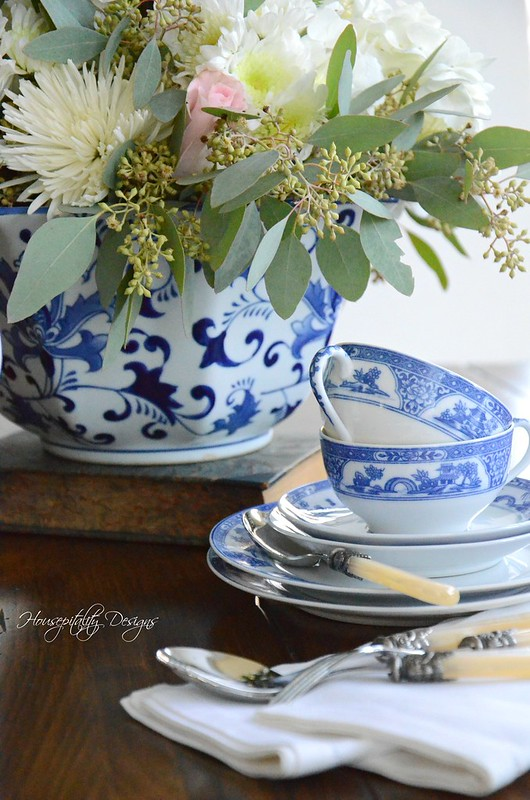 Blue and White Vignette-Housepitality Designs-8