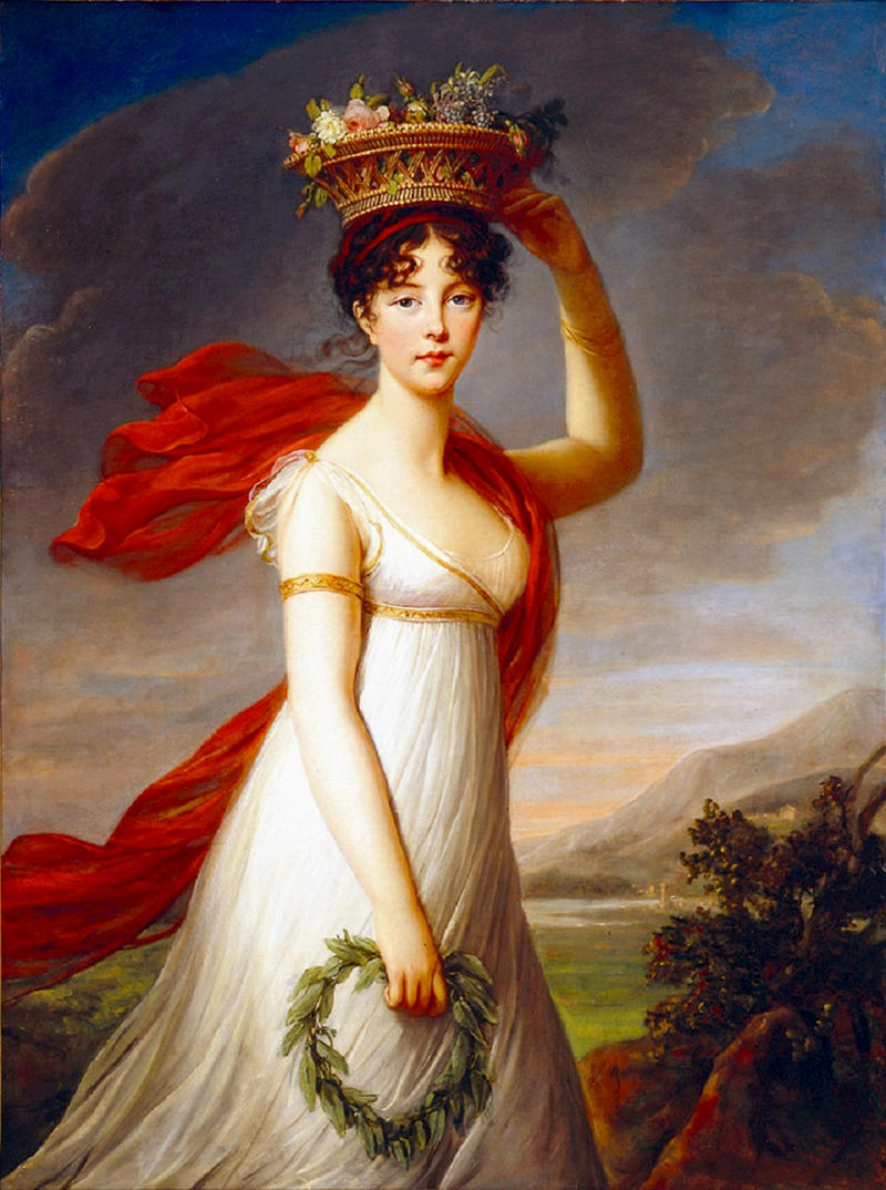 Julie Nigris as Flora, Roman Goddess of Flowers by Élisabeth Vigée-Lebrun, 1799