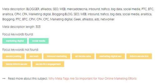 La meta-descripción en el sitio de la herramienta SEO de Neil Patel.