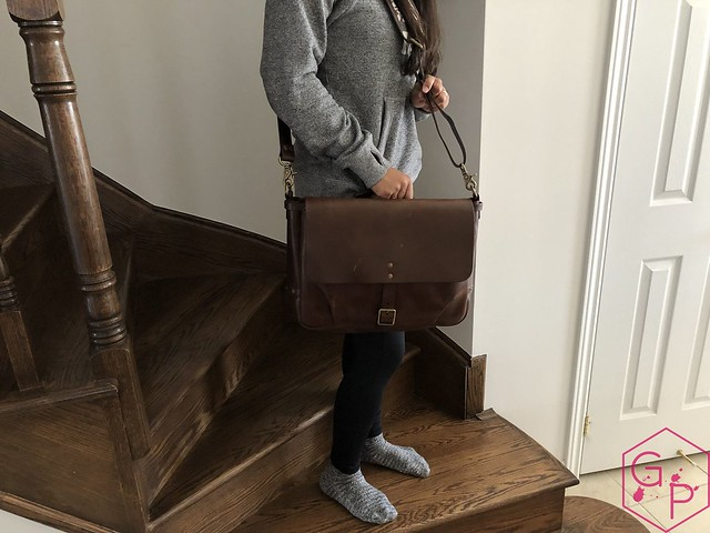 Review @SatchelandPage Brown Leather Slim Mailbag 5