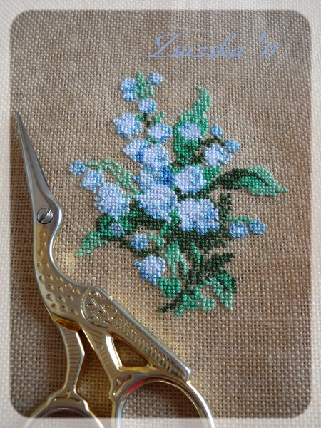 riolis, cross stitch , mini 1X1, lily of the valley (2)