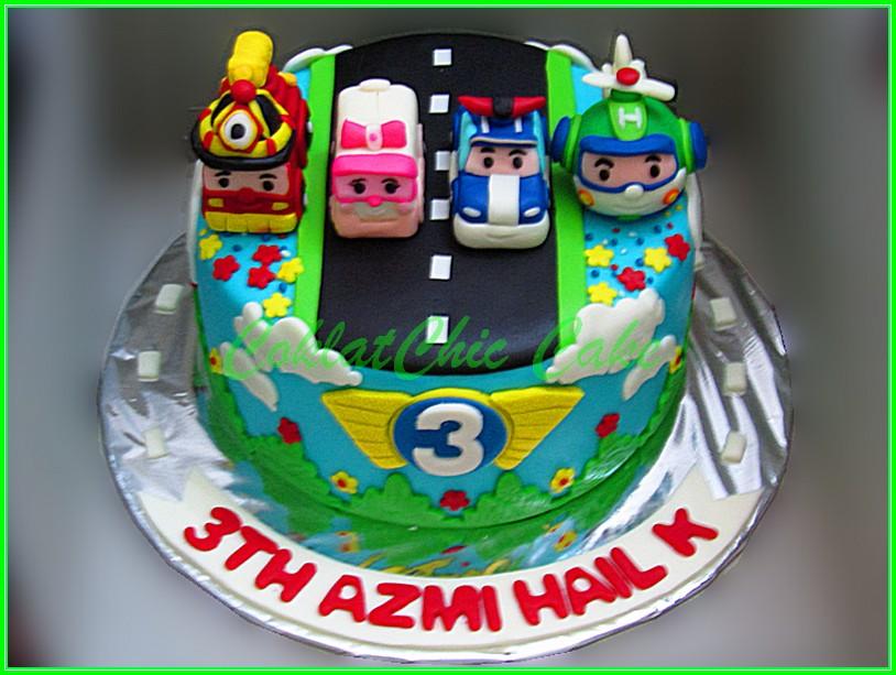 Cake Robocar Poli AZMI 15cm