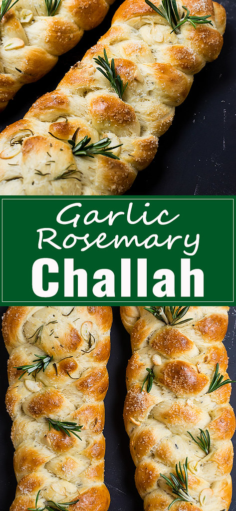 Garlic Rosemary Challah Recipe via LIttleFerraroKitchen.com