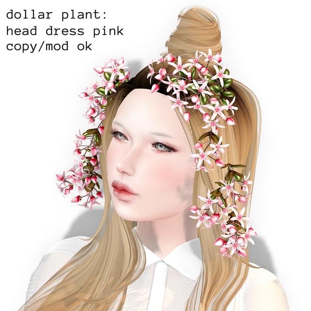 *NAMINOKE*Dollar Plant HeadDress Pink