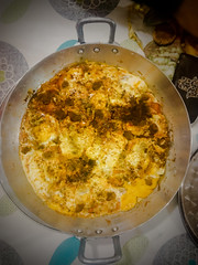 Deep dish omelette, part from the Moroccan traditional food
