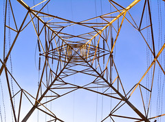 Hight tension tower