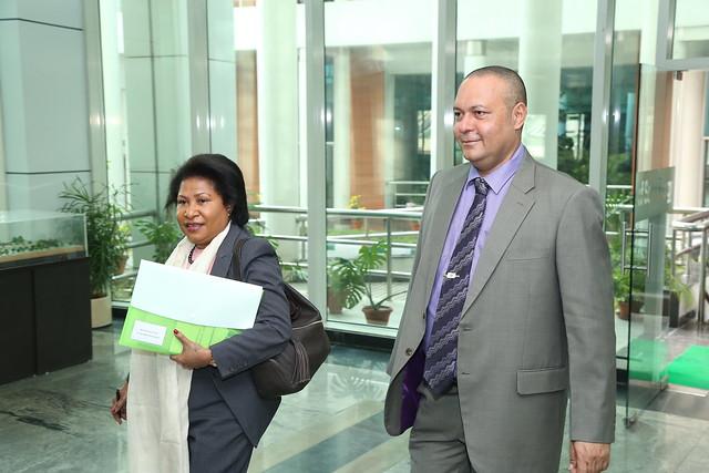 Delegation from Papua New Guinea under the leadership of Mr. Sam Basil, Hon'ble Minister for ICT & Energy visited ISA Secretariat on Monday, 11th December, 2017