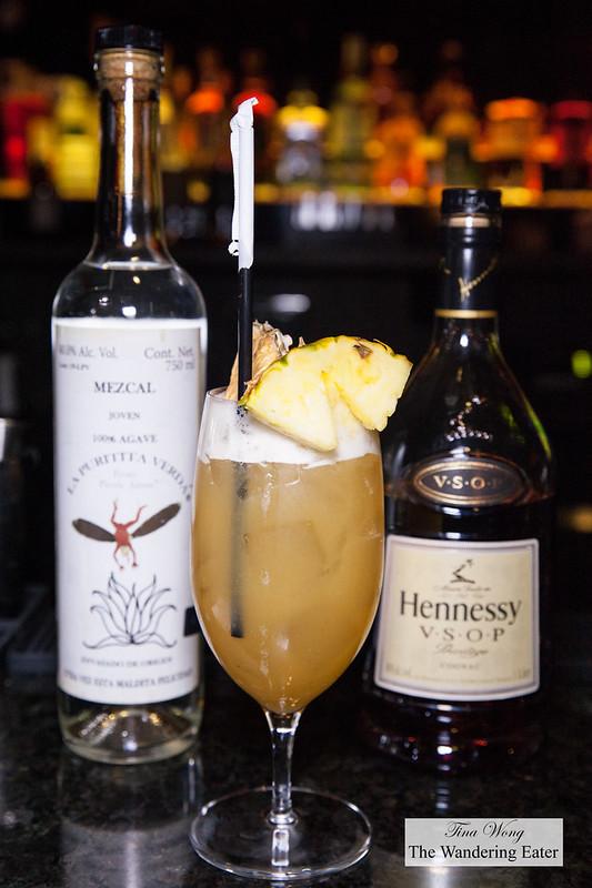 Casamigos Mezcal, Hennesy VSOP, pineapple