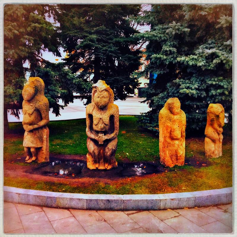 •Bizarre quartet(near Historical Museum, Kharkiv, )