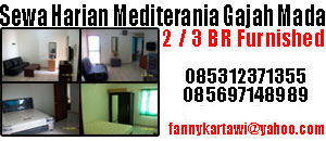 sewa harian apartemen Mediterania Gajah Mada