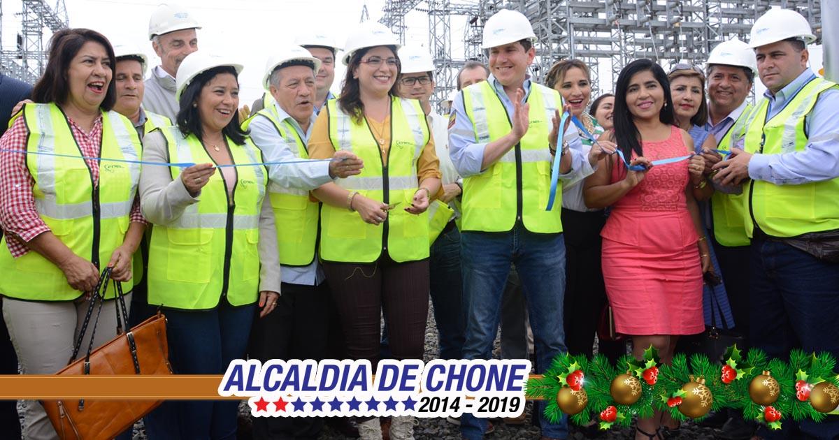Gobierno Nacional inaugura Subestación Eléctrica de Chone