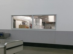 What lurks behind the new café food prep area window!??