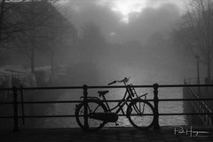 Bicycle in fog @ Amsterdam