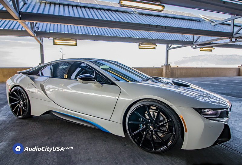 2016 Bmw I8 22 Savini Wheels Bm15 Gloss Black True Directional