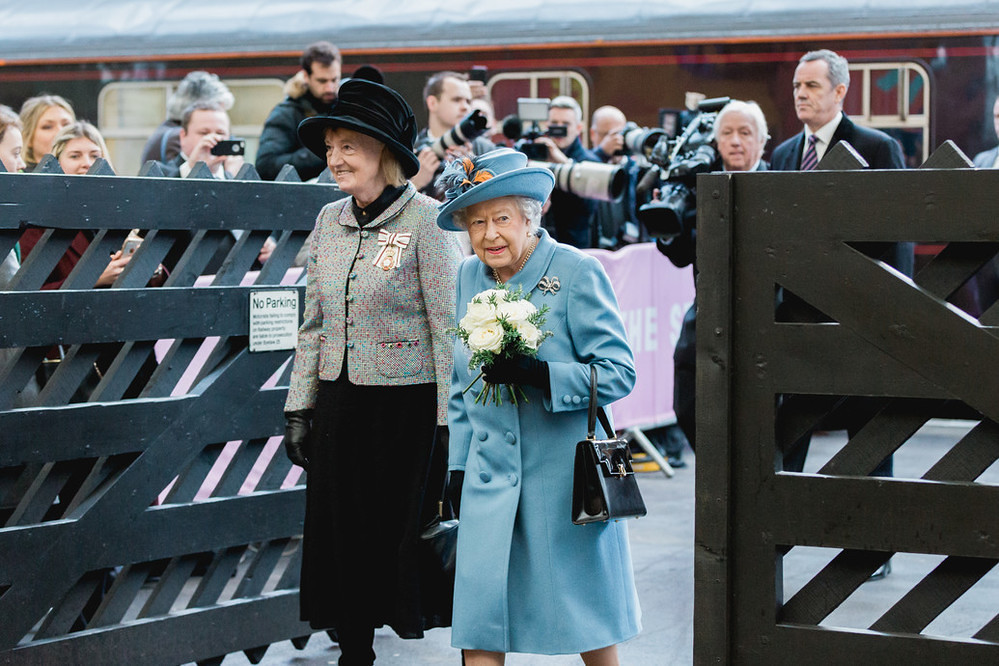 The Queen at Hull Paragon Station. Photo © Chris Pepper.