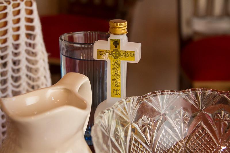 utensilios del bautizo
