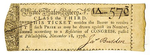 1776 United States Lottery Ticket