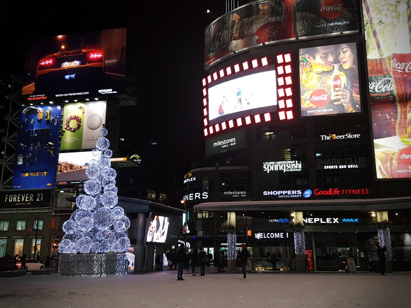 Dundas Square Christmas