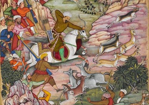 Babürname'den av sahnesi 1590-93