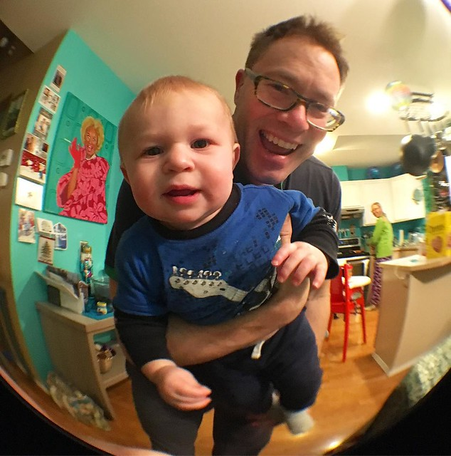Testing out Joshy's new #olloclip fish-eye lens while Mumsie makes me grilled cheese for dinner.