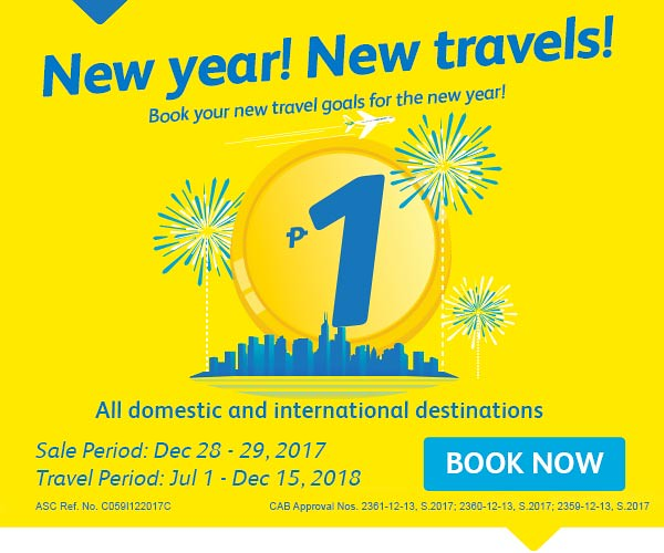 Cebu Pacific Air Promo Piso Sale December 2017