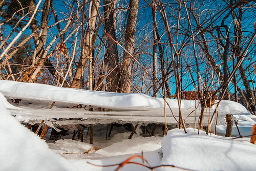 Riverside Landing Ice Sheets - St. Croix River, Danbury, Wisconsin