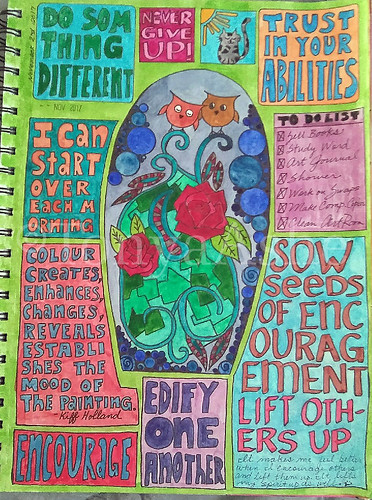 Art Journal Page Never Give Up WM