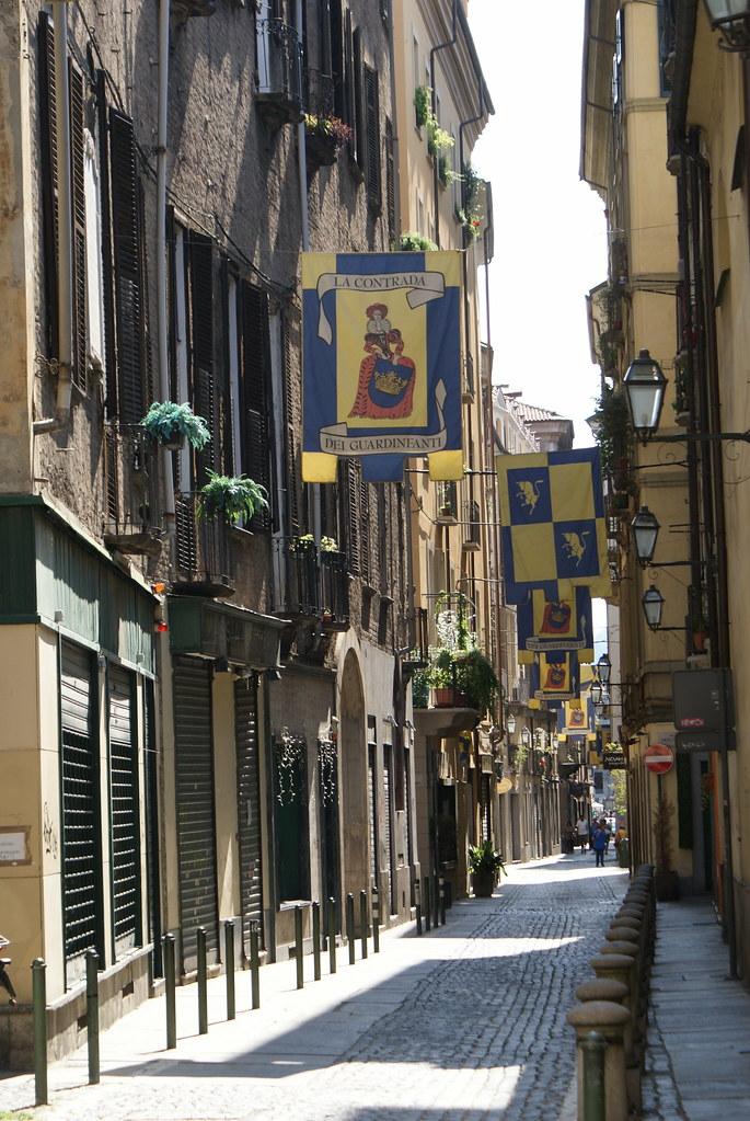 Dans le centre de la Vieille Ville de Turin.