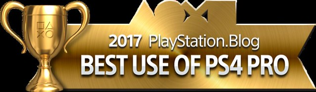 PlayStation Blog Game of the Year 2017 - Best Use of PS4 Pro (Gold)