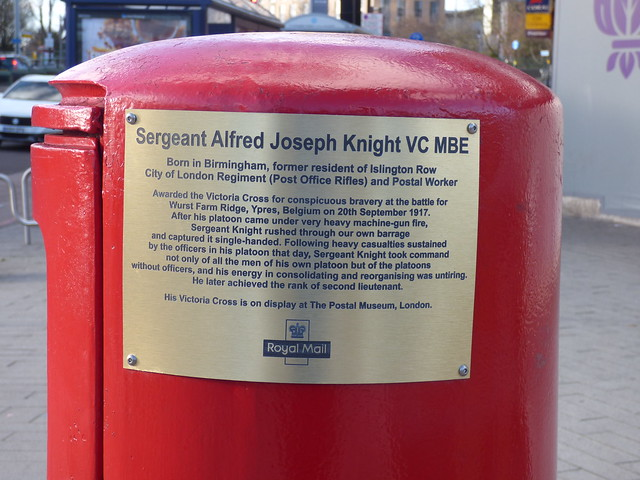 Photo of Alfred Joseph Knight brushed metal plaque