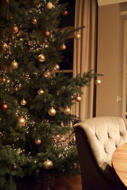 Kerstboom gecapitonneerde stoel