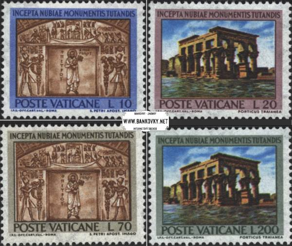 Známky Vatikán 1964 Núbijské monumenty, nerazítkovaná séria