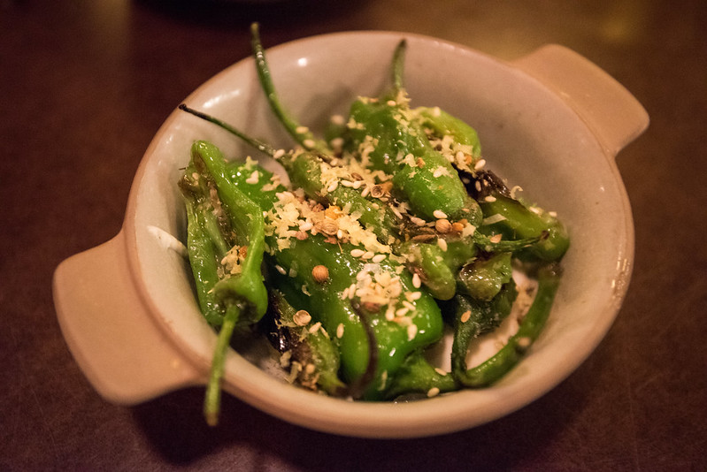 State Bird Provisions- Fillmore District, San Francisco, CA: Shishito Peppers with Goat Cheese and Garlic Aioli