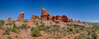 Arches National Park Panorama 18a May 4th 2017: Panoramic Image & HDR Image