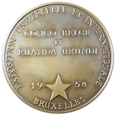 BELGIAN CONGO AND RUANDA URUNDI INTERNATIONAL EXPO medal reverse