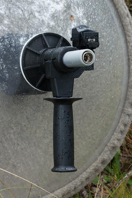 DIY Parabolic - Handle, XLR5 Connector, and Reflex Sight