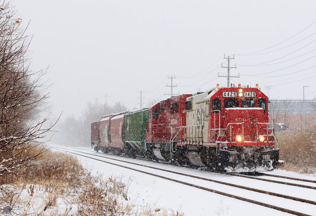 Winter Railroading.