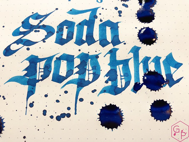 Ink Shot Review @RobertOsterInk Soda Pop Blue @PhidonPens 9