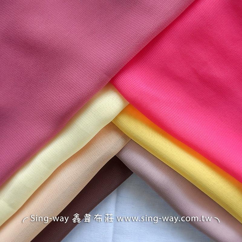 素面雪紡紗 裝飾服裝布料 IA290058 粉紫色系