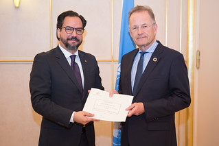 NEW PERMANENT REPRESENTATIVE OF HONDURAS PRESENTS CREDENTIALS TO DIRECTOR-GENERAL OF UNITED NATIONS OFFICE AT GENEVA